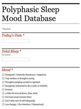 Google Form of Polyphasic Sleep Survey