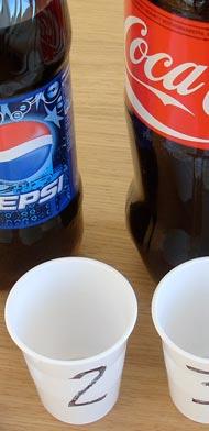 Pepsi and Coke Bottles