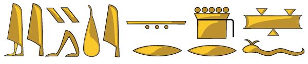 hieroglyphs styled