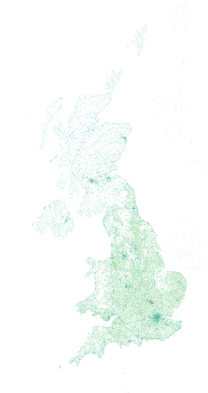 Geonames map of Great Britain