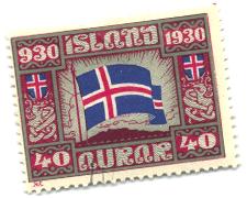 Icelandic Stamp, 40 Aurar