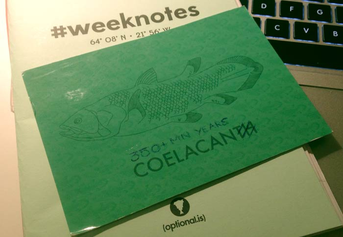 weeknotes and postcard