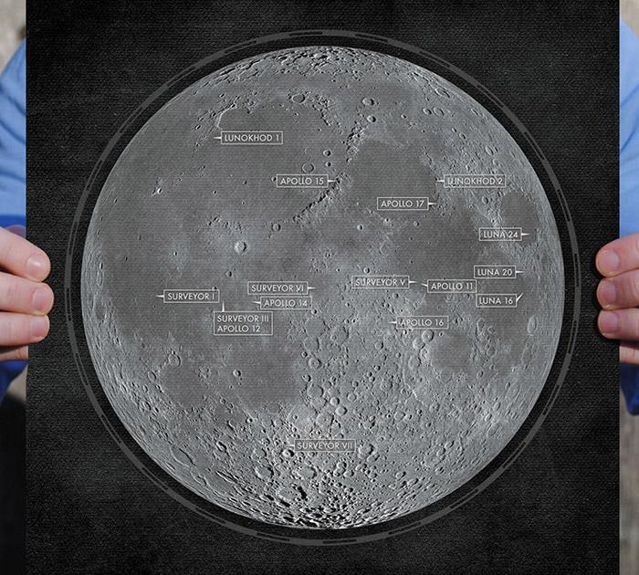 Moon Landing map