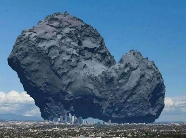 comet-earth-comparison
