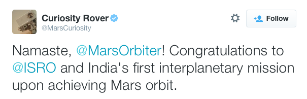 mars rover twitter account