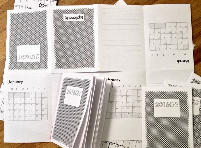 A7 Calendar Notebooks