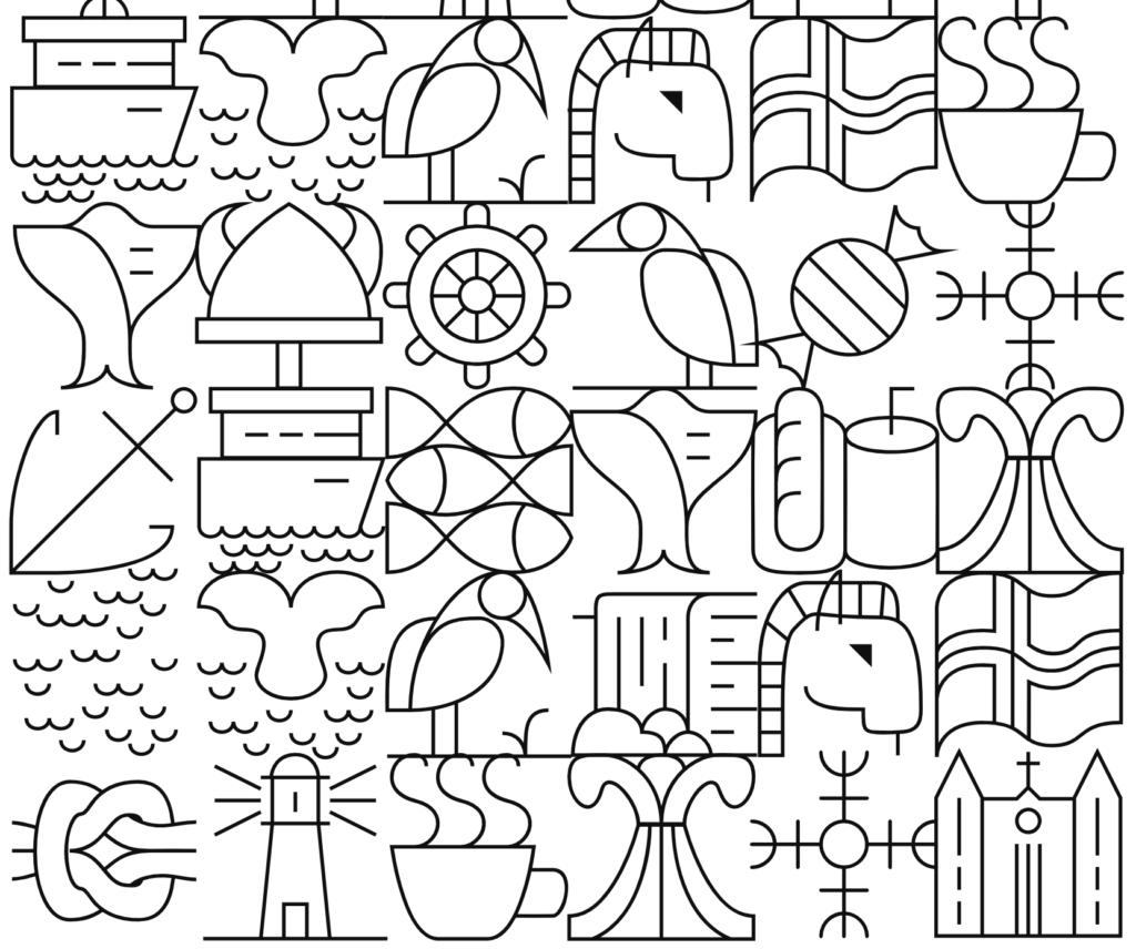 icelandic themed tiles