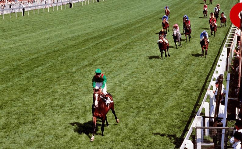 Shergar winning by 10 lengths in 1981