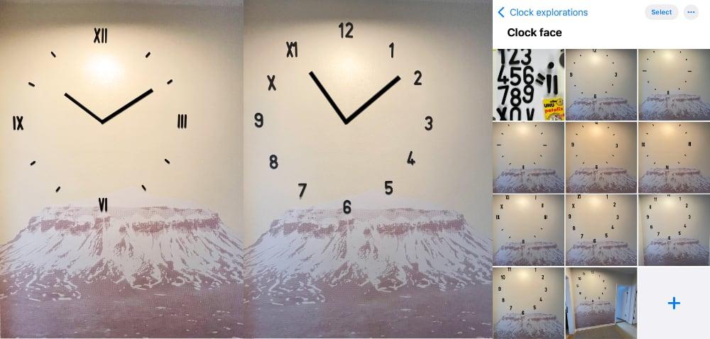 Exploration of Clock Faces