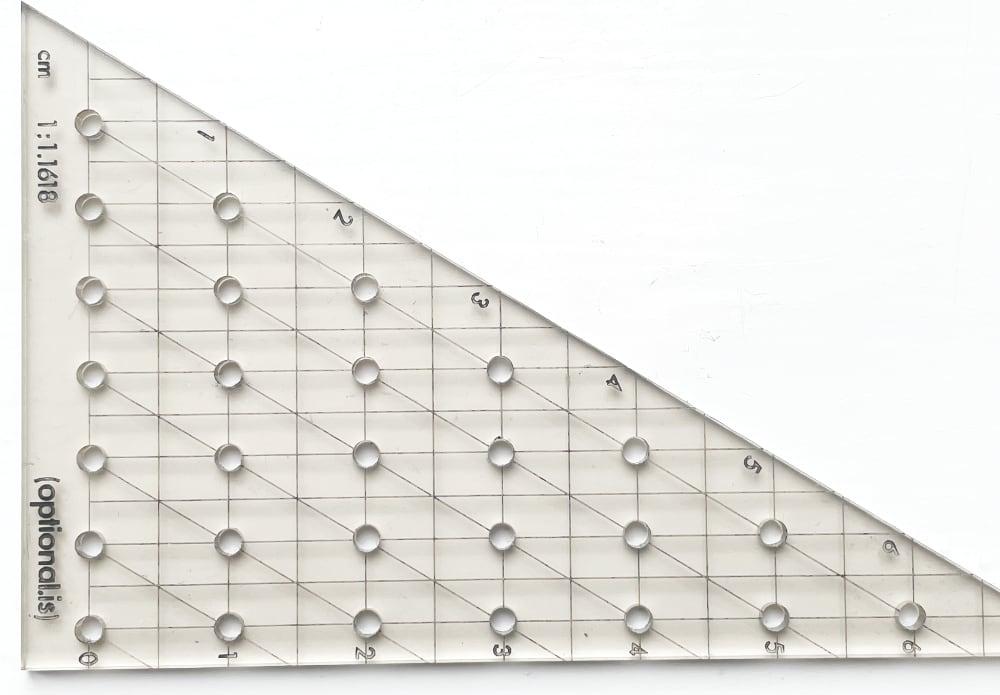Design 1: Golden Ratio Ruler 1cm steps