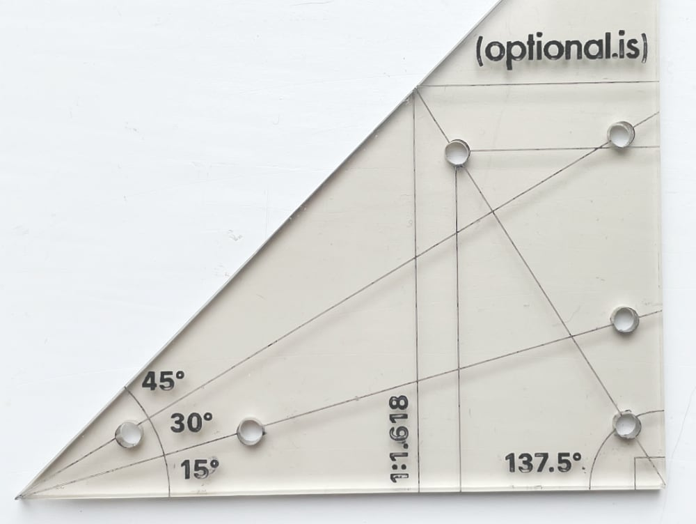 Design 2: Gold Ratio Ruler Common Angles