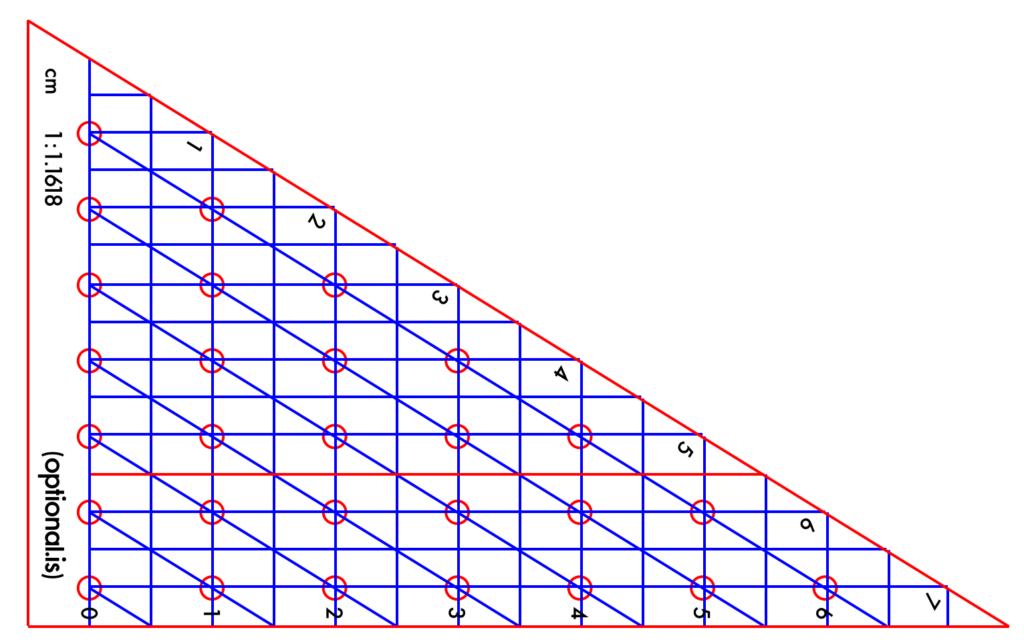 Golden Ratio Laser Cut Diagram